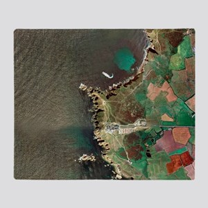 Land's End, UK, aerial image Throw Blanket