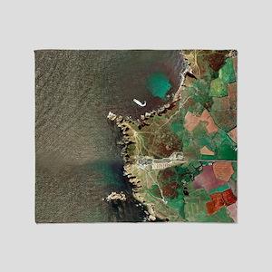 Land's End, UK, aerial image Throw Blanket