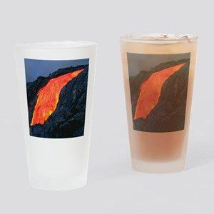 Lava flow from Kilauea volcano Drinking Glass