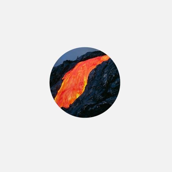 Lava flow from Kilauea volcano Mini Button