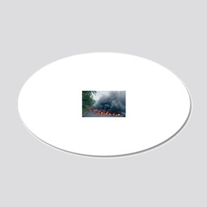 Lava flow from Kilauea volca 20x12 Oval Wall Decal