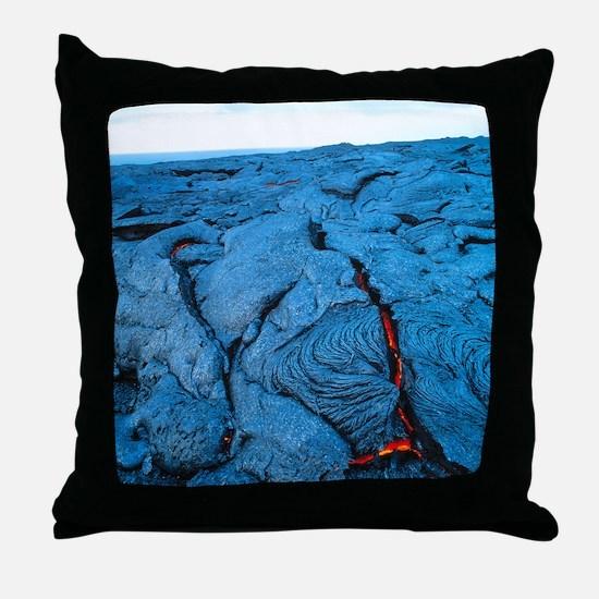 Lava flow Throw Pillow
