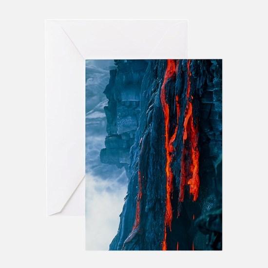 Lava flow Greeting Card