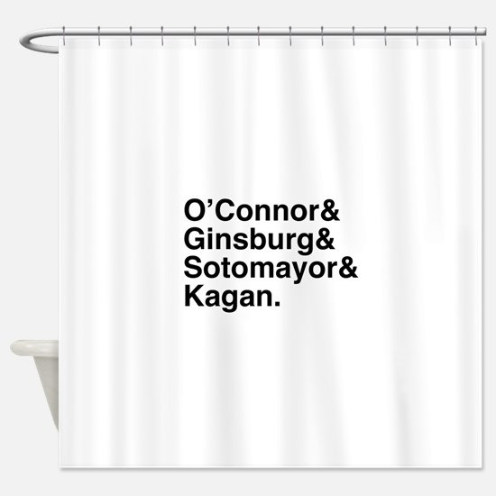 Female Justices 2 Shower Curtain