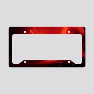 Lava entering the sea at nigh License Plate Holder