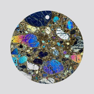 Kimberlite rock Round Ornament