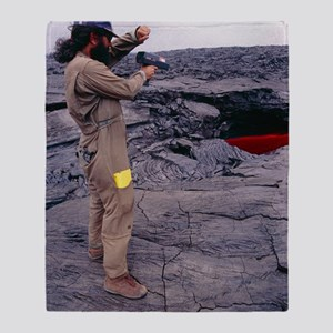 Kilauea volcano research, Hawaii Throw Blanket