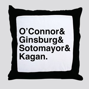 Female Justices 2 Throw Pillow