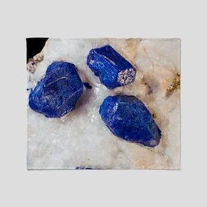 Lapis lazuli crystals Throw Blanket