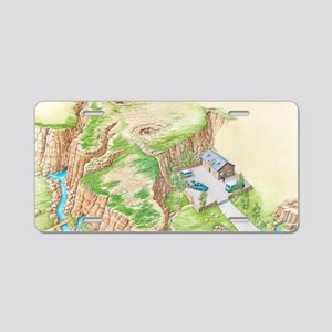 Karst terrain, artwork Aluminum License Plate