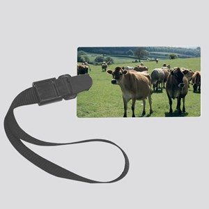 Jersey cows Large Luggage Tag