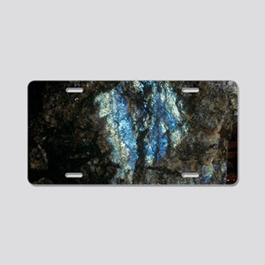 Labradorite plutonic rock Aluminum License Plate