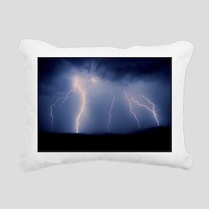 July lightning storm, Tu Rectangular Canvas Pillow