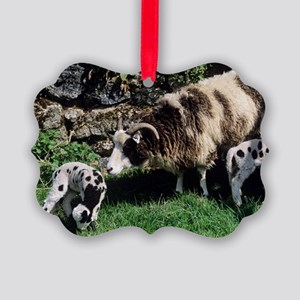 Jacob sheep Picture Ornament
