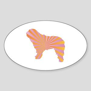 Spanish Rays Oval Sticker