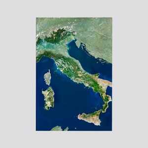 Italy, satellite image Rectangle Magnet
