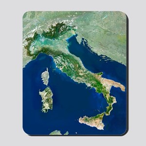 Italy, satellite image Mousepad