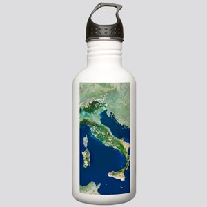 Italy, satellite image Stainless Water Bottle 1.0L