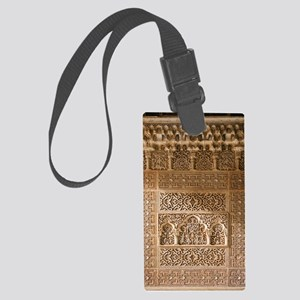 Islamic carvings, Alhambra, Spai Large Luggage Tag