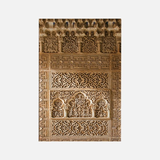 Islamic carvings, Alhambra, Spain Rectangle Magnet