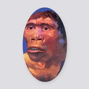 Java Man reconstruction Oval Car Magnet