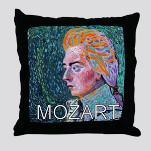 WHIRLING MOZART Throw Pillow