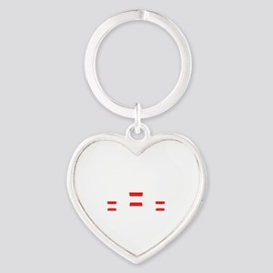 The Perfect Bowling Game Heart Keychain