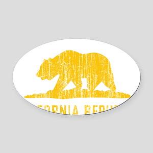 Vintage California Republic Oval Car Magnet