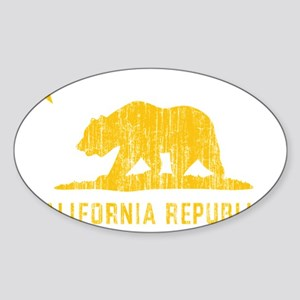 Vintage California Republic Sticker (Oval)