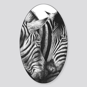 Zebras Kindle Sleeve Sticker (Oval)