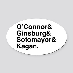 Female Justices 2 Oval Car Magnet