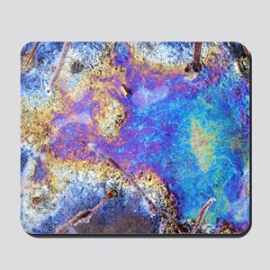 Interference patterns in a frozen pond Mousepad
