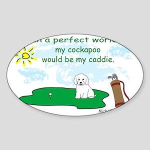 cockapoo Sticker (Oval)