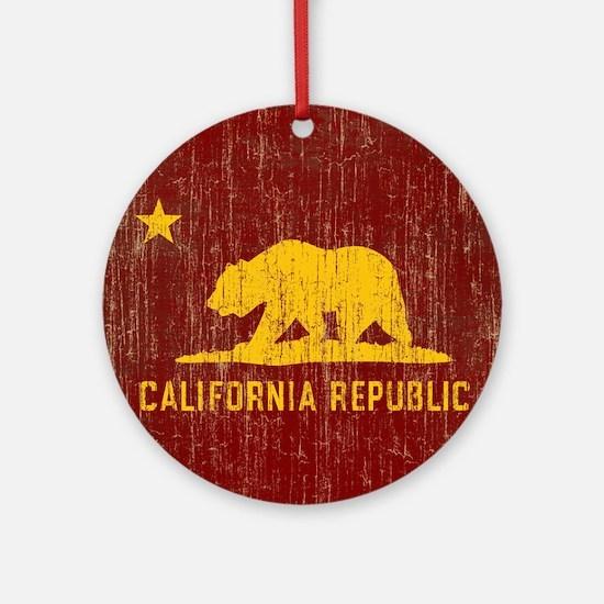 VintageCalifornia Round Ornament