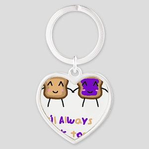 PBJ Heart Keychain