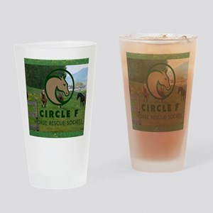 Circle F logo and herd Drinking Glass