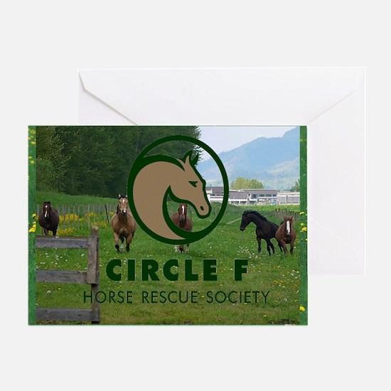 Circle F logo and herd Greeting Card