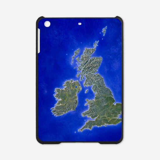 Illustration of a relief map of the iPad Mini Case