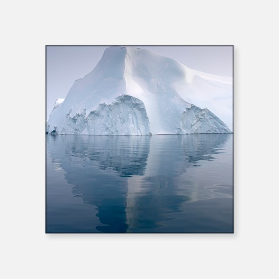 "Icebergs Square Sticker 3"" x 3"""