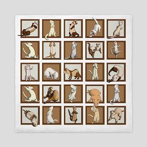 Ferret Squares Shower Curtain Queen Duvet