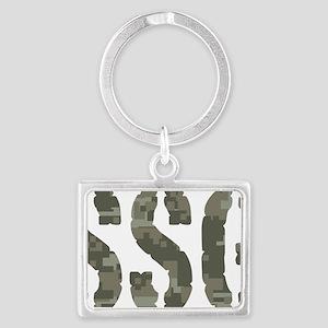 Camo Staff Sergeant SSG rank Landscape Keychain