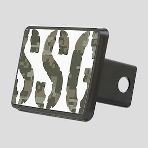 Camo Staff Sergeant SSG ra Rectangular Hitch Cover