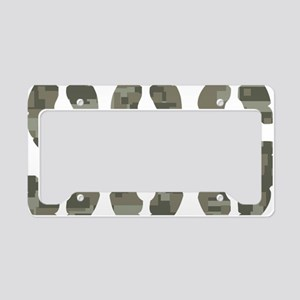 Camo Staff Sergeant SSG rank License Plate Holder