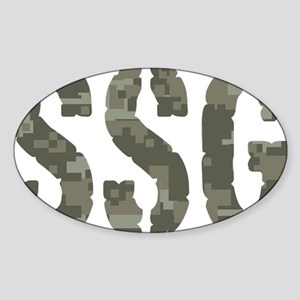 Camo Staff Sergeant SSG rank Sticker (Oval)