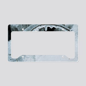 Ice-covered branch License Plate Holder