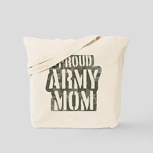 Proud Army Mom camo print Tote Bag