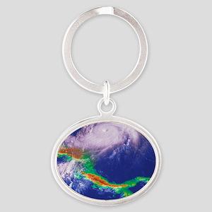 Hurricane Mitch Oval Keychain