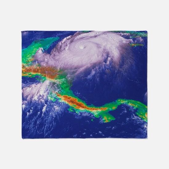 Hurricane Mitch Throw Blanket