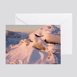 Ice encrusted cairn Greeting Card