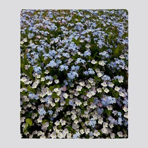Myosotis sylvatica Throw Blanket